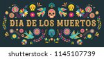 day of the dead  dia de los... | Shutterstock .eps vector #1145107739