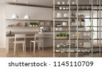 kitchen living room shelving... | Shutterstock . vector #1145110709