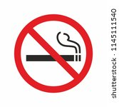 no smoking sign. forbidden... | Shutterstock .eps vector #1145111540