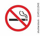 no smoking sign. forbidden... | Shutterstock .eps vector #1145111543