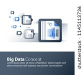 big data analyzing  information ... | Shutterstock .eps vector #1145113736