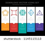 5 vector icons such as pentagon ... | Shutterstock .eps vector #1145115113
