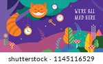alice in wonderland banner ... | Shutterstock .eps vector #1145116529