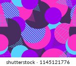 seamless pattern with circles... | Shutterstock .eps vector #1145121776
