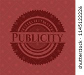 publicity realistic red emblem | Shutterstock .eps vector #1145122226