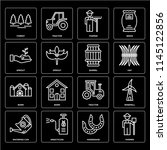 set of 16 icons such as farmer  ... | Shutterstock .eps vector #1145122856