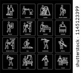 set of 16 icons such as tailor  ...