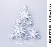 vector christmas and new year... | Shutterstock .eps vector #1145125736