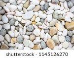 relaxing pebbles background for ... | Shutterstock . vector #1145126270