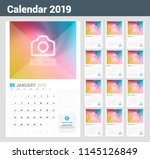 wall calendar planner template... | Shutterstock .eps vector #1145126849