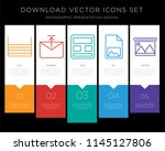 5 vector icons such as water ... | Shutterstock .eps vector #1145127806