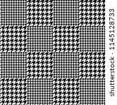 vector houndstooth seamless... | Shutterstock .eps vector #1145128733