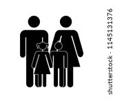 familiar group of mother father ... | Shutterstock .eps vector #1145131376