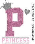 pink princess slogan  | Shutterstock .eps vector #1145131763