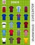 soccer kit or football jersey... | Shutterstock .eps vector #1145134709