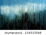 water and rain drops on the... | Shutterstock . vector #114513568
