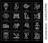 set of 16 icons such as... | Shutterstock .eps vector #1145135990