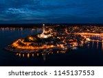 beautiful rovinj night aerial... | Shutterstock . vector #1145137553