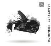 grey brush stroke and texture.... | Shutterstock .eps vector #1145139599