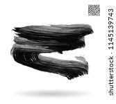 grey brush stroke and texture.... | Shutterstock .eps vector #1145139743