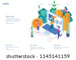 concept national accountant's... | Shutterstock .eps vector #1145141159