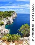cliffs in telascica nature park ... | Shutterstock . vector #1145142200