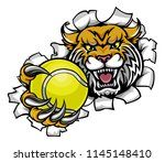 a wildcat angry animal sports... | Shutterstock .eps vector #1145148410
