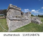 ancient ruins of stony mayan... | Shutterstock . vector #1145148476
