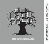 lovely flat tree with photo... | Shutterstock .eps vector #1145149940
