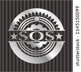 sos silvery shiny emblem | Shutterstock .eps vector #1145150099