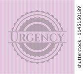 urgency vintage pink emblem | Shutterstock .eps vector #1145150189