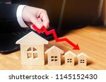 a decline in property prices.... | Shutterstock . vector #1145152430