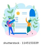 concept application form for... | Shutterstock .eps vector #1145153339