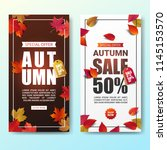 autumn sale banner layout... | Shutterstock .eps vector #1145153570