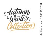 autumn winter collection... | Shutterstock .eps vector #1145153750