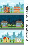 set of three vector... | Shutterstock .eps vector #1145153873