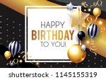 happy birthday  celebration ... | Shutterstock .eps vector #1145155319