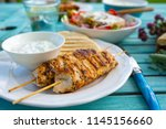 delicious grilled chicken... | Shutterstock . vector #1145156660