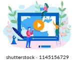 concept news update  online... | Shutterstock .eps vector #1145156729