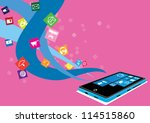 touch screen mobile phone with... | Shutterstock .eps vector #114515860