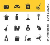 cleaning icons vector with... | Shutterstock .eps vector #1145160260