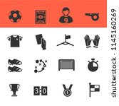 soccer icons set with white... | Shutterstock .eps vector #1145160269