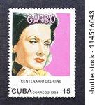 cuba   circa 1995  a postage... | Shutterstock . vector #114516043