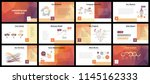 business presentation templates.... | Shutterstock .eps vector #1145162333