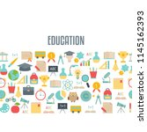 back to school background with... | Shutterstock .eps vector #1145162393