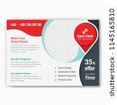 horizontal fitness center flyer ... | Shutterstock .eps vector #1145165810