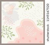 spring scarf pattern design | Shutterstock .eps vector #1145167520