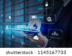 gdpr. data protection... | Shutterstock . vector #1145167733