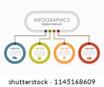 infographic design template... | Shutterstock .eps vector #1145168609