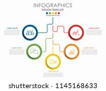 infographic design template... | Shutterstock .eps vector #1145168633